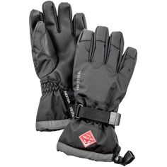 Hestra Youth Gauntlet CZone Insulated Gloves, Kids Unisex, Size: 5, Black