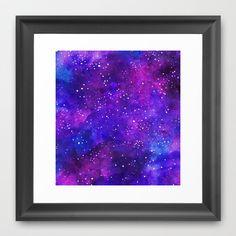 Nebula Framed Art Print by Erin Jordan - $38.00