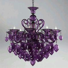 Purple Murano Glass Chandelier. Cyan Design