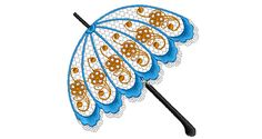 Hare Krishna 24 x 28 Inches Handmade Sun Protect Umbrella Cotton Embroidered Parasol Lot of 5 PCs Set
