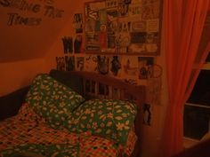 a wall of my bedroom/part of my bed