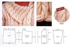 Summer Knitting, Knit Wrap, Knitted Poncho, Stitch Patterns, Boho Chic, Sweaters, Blog, Women, Lana