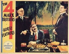THE MARX BROTHERS 1932 HORSE FEATHERS ~ GROUCHO ~LOBBY CARD ~ FREE SHIPPING