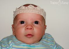 This is one adorable crown!  All babies look extra cute with something on their heads, and boys just cannot wear ribbons, so this is a wonderful alternative eh!  Nice