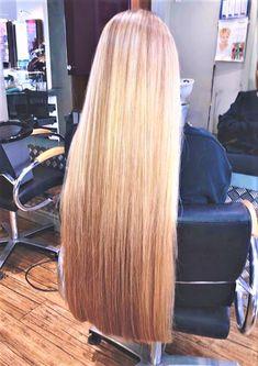 One Length Hair, Waist Length Hair, Shoulder Length Hair, Bun Hairstyles For Long Hair, Straight Hairstyles, Blunt Cut Long Hair, Perfect Blonde Hair, Really Long Hair, Silky Hair