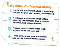 kids rules for online safety - Поиск в Google
