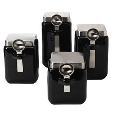 Canister Set Black