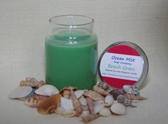 Soy Candle 5 ounce Beach Grass Scent with Fragrance Oil All Natural