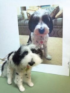 Custom Felted Wool Dog by WhimsicalWoolies on Etsy, $99.00