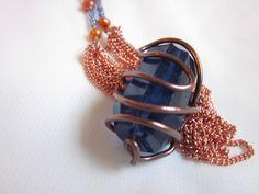 Blueberry Quartz- A naturally deep blue quartz crystal