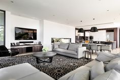 Contemporary furniture sourced by Urbane Projects, Perth. Wood Accents, Indoor Garden, Perth, Contemporary Furniture, Luxury Homes, Dining Table, Concept, Couch, Projects