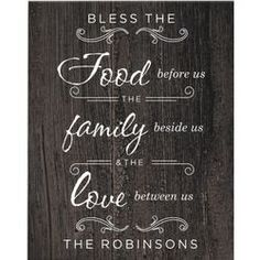 Bless Us Personalized Wall Canvas