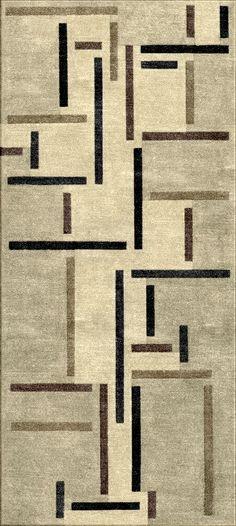 Rug Inspired by Rhythms of a Russian Dance Theo van Doesburg 1918