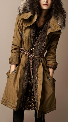 Fur Trim Parka | Burberry!!! this is my favorite parka !!!