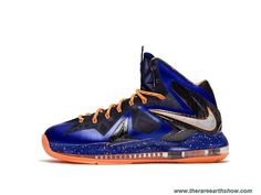 25a09c22fdb5 New Nike LeBron X PS Elite Superhero Hyper Blue Pure Platinum-Blackened Blue -Bright