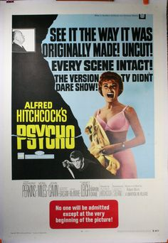 Alfred Hitchcock Movies   PSYCHO, uncut version