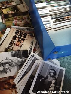 The Life Changing Magic of Tidying by Marie Kondo - box of old photographs