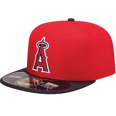 1de400c27d050 Men s Los Angeles Angels of Anaheim New Era Red Navy On Field Diamond Era  59FIFTY
