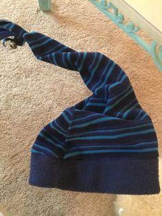 "273e066eac8 Blue ""GOTTA HAVA HAT"" Fleece Beanie Long Hat Bell End Adult One Size"