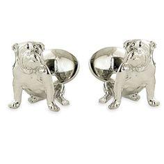 David Donahue Silver Bulldog Cuff Links