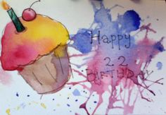 #Watercolor - #Birthday Card