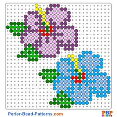 Flowers perler bead pattern. Download a great collection of free PDF templates for your perler beads at perler-bead-patterns.com