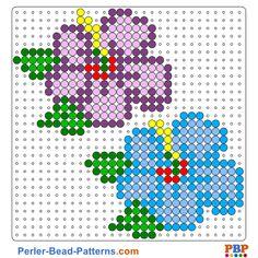 Flowers Perler Bead Pattern and Designs Melty Bead Patterns, Pearler Bead Patterns, Bead Loom Patterns, Perler Patterns, Beading Patterns, Perler Bead Designs, Perler Bead Templates, Hama Beads Design, Perler Beads