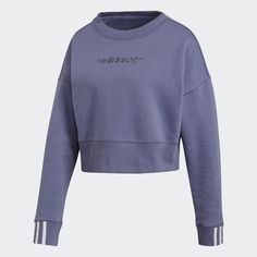 cd0776c0 Coeeze Cropped Sweatshirt Blue XL Womens