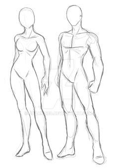 Male and Female Models by JBarnzi88