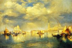 Thomas Moran Venetian Scene Painting