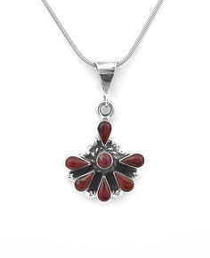 Sterling Silver Traditional Southwestern Red Jasper Pendant Jewelry Taxco Mexico #Handmade #Pendant