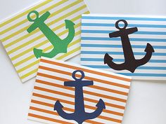 Anchors Away pack of blank cards...perfect for invites or thank you notes