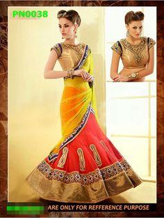 Indian Designer Lehanga Saree