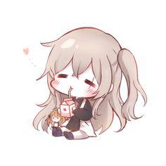 That is cutest gun ever, [Girl's Frontline] Chibi Kawaii, Loli Kawaii, Cute Anime Chibi, Kawaii Anime Girl, Kawaii Art, Anime Art Girl, Chibi Girl Drawings, Cute Kawaii Drawings, Lolis Neko
