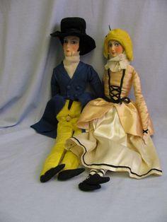 Cloth Boudoir Doll Pair