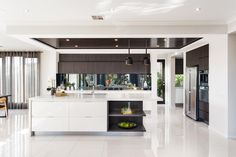 Metricon Homes - Black Label - Black and White Kitchen