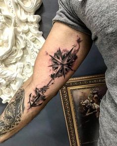 Kompass Tatoo - - Galena U.- Kompass Tatoo – – Galena U. Forarm Tattoos, Forearm Sleeve Tattoos, Maori Tattoos, Tattoo Sleeve Designs, Cute Tattoos, Tattoo Designs Men, Leg Tattoos, Body Art Tattoos, Small Tattoos