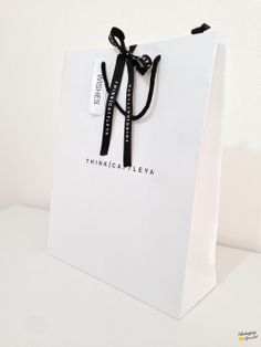 luxury paper bag w/custom ribbon Paper Packaging, Bag Packaging, Jewelry Packaging, Clothing Packaging, Packaging Design, Fashion Packaging, Luxury Packaging, Paper Carrier Bags, Paper Bags
