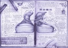 Excercise Book Print. Schooldays revisited - from Converse to Rulers via scribbles. A4 Print.. 35.00, via Etsy.