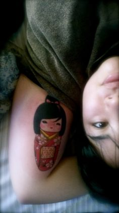 Kokeshi Doll tattoo! this girl is awesome!
