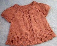 Discover thousands of images about O jacheta tricotata, recomandata pentru diminetile si serile de vara Crochet Baby Dress Pattern, Baby Dress Patterns, Baby Knitting Patterns, Baby Cardigan, Cardigan Bebe, Pull Bebe, Knit Baby Sweaters, Jacket Pattern, Knitting For Kids