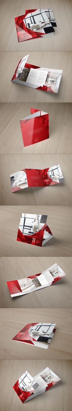Square Interior Design Trifold by Abra Design, via Behance