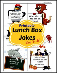 Make Back to School more fun with these Printable Lunch Box Jokes for kids. #ad #horizonbts