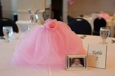 tutu table decor for quinceanera