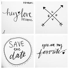 Doodle Calligraphy | Hey Love Designs