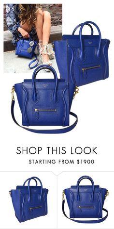 """Celine Nano Cobalt Blue Bag"" by luxurynextseason on Polyvore"