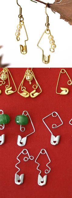 Recycle Safety Pins into a variety of earrings -