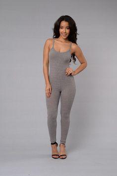 Little Miss Popular Jumpsuit - Grey