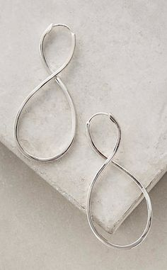 Sculpted Infinity Earrings #anthroregistry