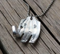 Elephant Fork Necklace by KeysAndMemories on Etsy